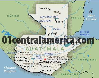 Map Of Guatemala - Map of guatemala