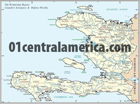 map of haiti. Map of Haiti