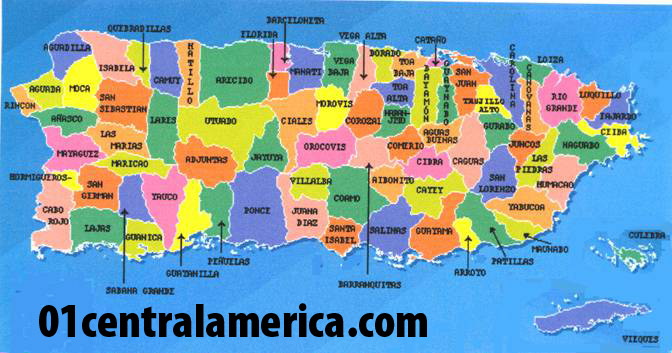 Map Of Puerto Rico With Provinces - Puerto rico map