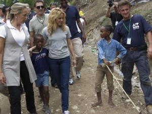 Shakira visiting Petionville Haiti