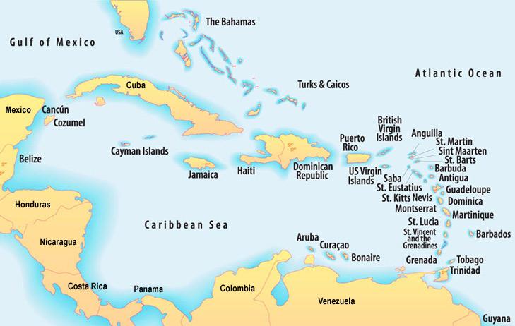 central america caribbean